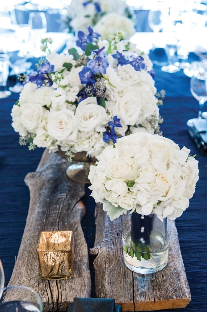 Rustic reception decor. Elegant Blue Rocky Mountain Wedding f8 photography Calgary Bride