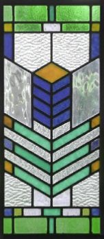 southwest stained glass window panel style 8