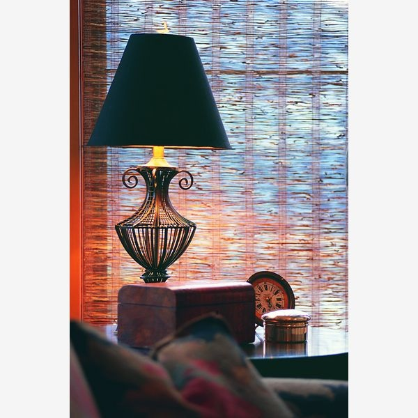 Looks inviting for a good book and a cup of tea.: Window Shades, Good Books