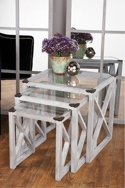 Moby Wood Nesting Tables set of 3 $165  www.hautelook.com...