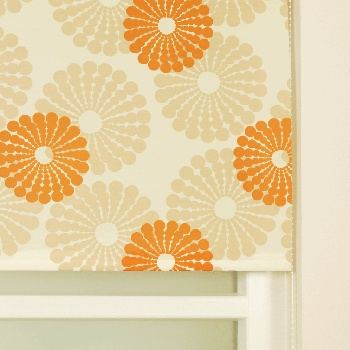 stamped/stencilled  designs on blinds