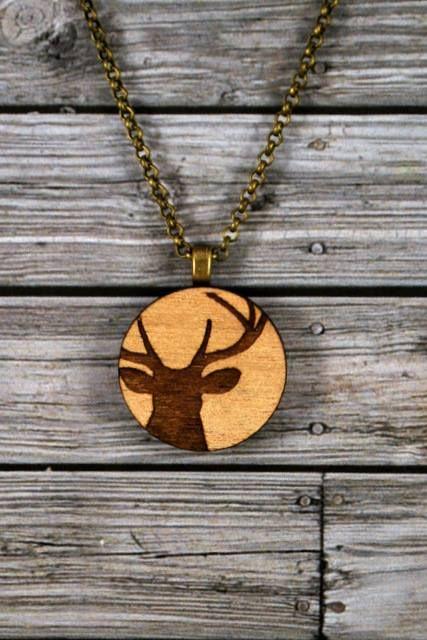 Deer Pendant by Sweet Sherbet. Via Sweet Florence The Australian Handmade Blog
