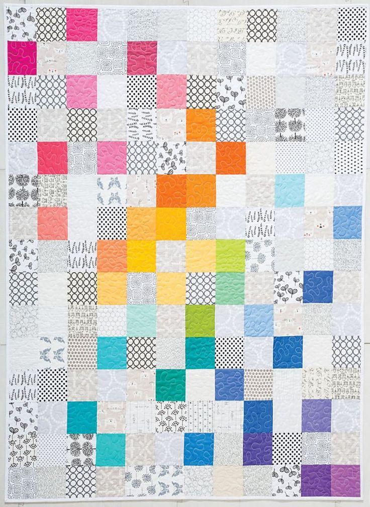 Best 25+ Rainbow quilt ideas on Pinterest | Robert kaufman fabric ... : rainbow quilt pattern - Adamdwight.com
