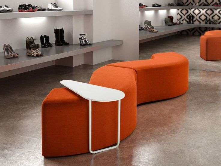 Banc rembourré modulable en tissu CHURROS IN Collection Churros by CHAIRS
