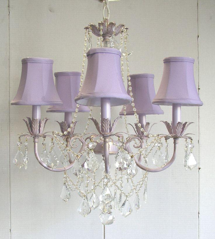 Lavender chandelier Olivia baby and kids lighting