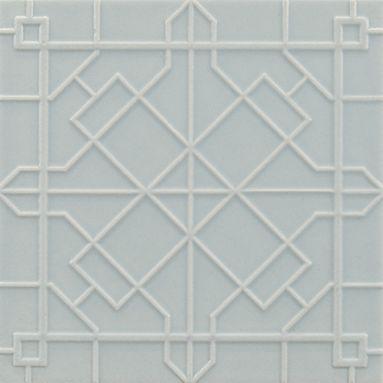 modern fretwork tile from anne sacks backsplash fliesewandfliesen fliesenmusterlabyrinthekche - Kche Backsplash Ubahn Fliesenmuster