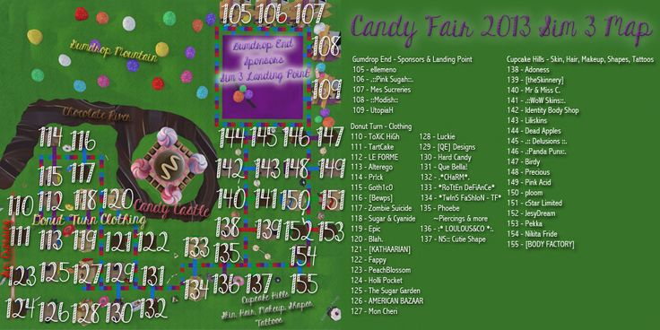 Candy Fair 2013 Map Sim 3 - http://maps.secondlife.com/secondlife/Candy%20Cove/195/194/22