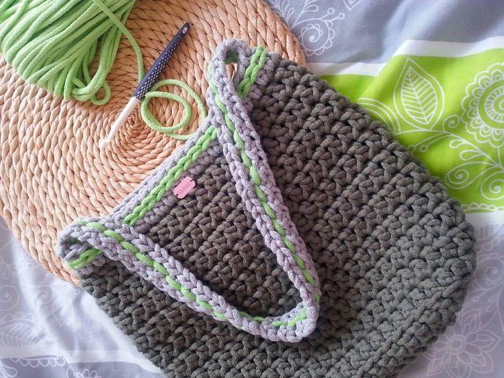 margola72#torba #bag #tasche #nalato #zpagetti #cotoncolors #sznurekbawełniany #cotton #crocheting #szydełko #rękodzieło #recznarobota #handmade #szydełkowanie #zpotrzebypiekna #pogodzinach #khaki