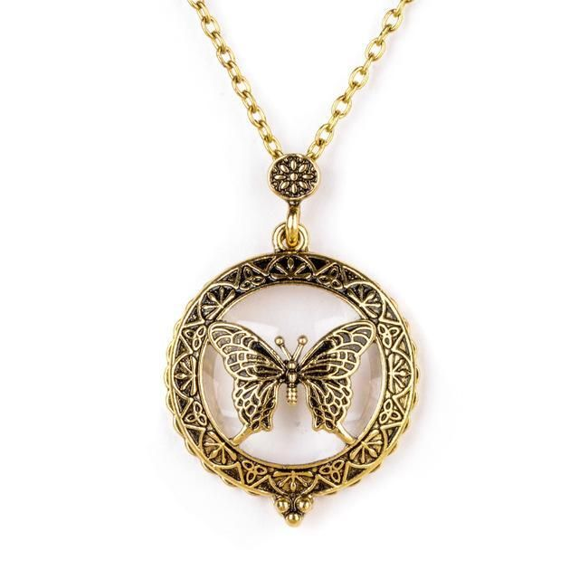 VIP - Butterfly Pendant Necklace with Magnifying Glass