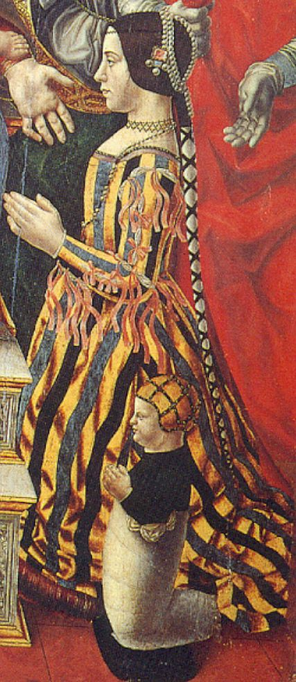 Beatrice d'Este  wife of the Milanese ruler Ludovico Sforza and their stillborn son.