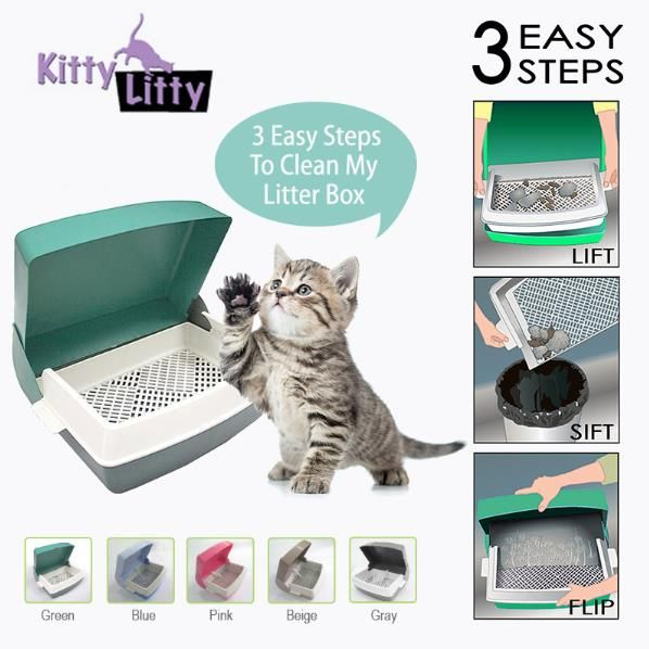 Want to clean your litter box just in few steps? Try Kitty Litty now, only available at www.tweebaa.com
