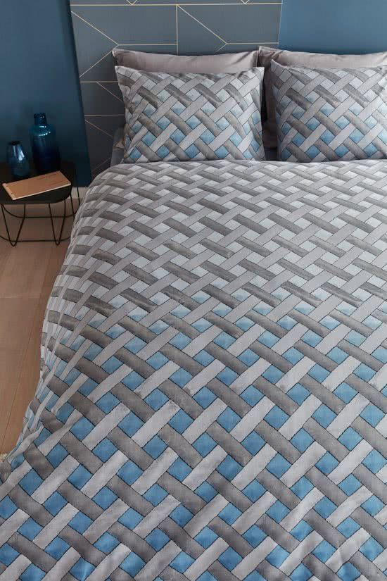 Beddinghouse Padded - Dekbedovertrek - Lits-jumeaux - 240x200/220 cm - Blauw Grijs