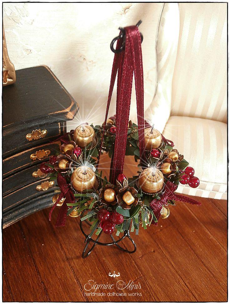handmade wreath for christmas