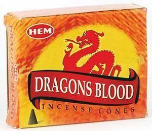 Dragon's Blood HEM Cone Incense 10 Pack ICHDB