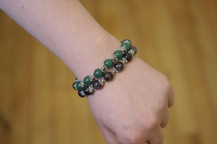 Jade & Amethyst Stone Bracelets #one1earth