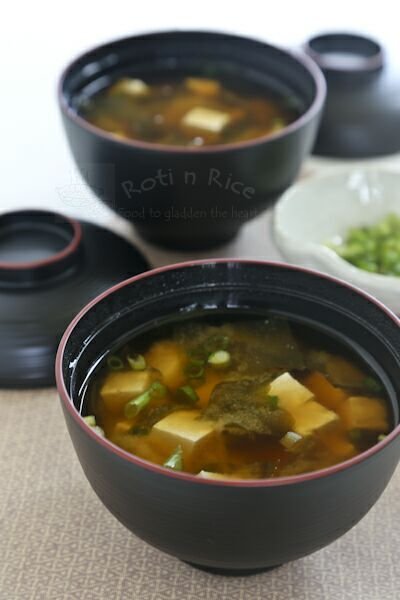 Quick, easy, and tasty Miso Soup with wakame (seaweed), tofu, and ...
