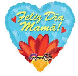 Jumbo Feliz Dia Mama Daisy - Non-Pkg Foil Balloon