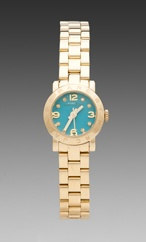 Marc by Marc Jacobs Amy Dinky Watch in Aqua/Gold from REVOLVEclothing.com