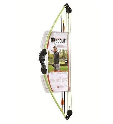 Archery Sets and Kits 161751: Bear Archery Ays6000gr Scout Kids Ages 4-7 Youth Bow And Arrow Set Flo Green New BUY IT NOW ONLY: $33.95