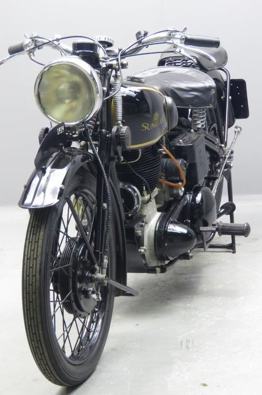 """Sunbeam1939 """"High Camshaft"""" model B25 S498 cc OHV frame# 974 engine# B25 SE698 In the mid-thirties Sunbeam parent company ICI ( Imperial Chemical Industries) decided to dispose of the hardly profitable cycle and motorcycle side. AMC bought the business in 1937: their main interests being the bicycle dealer network and the well-established famous """"Sunbeam"""" name. ... Read more"""