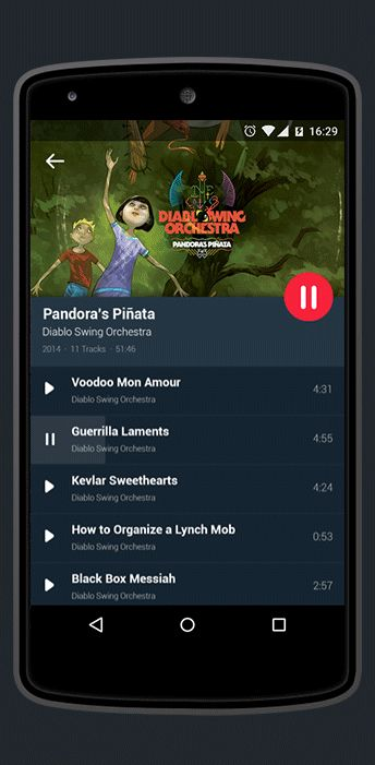 Since Google introduced Material Design almost a year ago it's amazing to see more and more designers adopting the framework. Enter a project that Anatoly Nesterov created for a music player employing this new visual language.