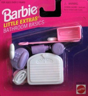 Reviews Barbie Little Extras Bathroom Basics Accessory Pack (1996 Arcotoys, Mattel) Large selection at low prices - http://wholesaleoutlettoys.com/reviews-barbie-little-extras-bathroom-basics-accessory-pack-1996-arcotoys-mattel-large-selection-at-low-prices