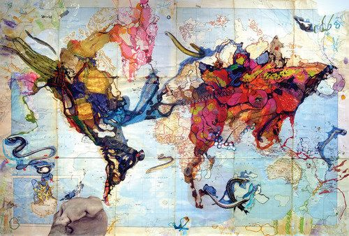 I want this map art in my house!