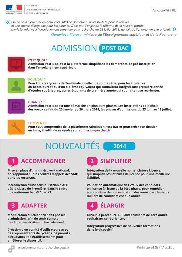 Dispositif Admission Post-Bac 2014 : informez-vous sur les formations de l'enseignement supérieur #APostBac