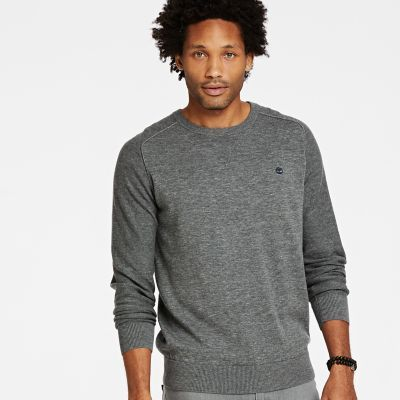 Timberland Men's Williams River Crew Neck Sweater Grey Heather