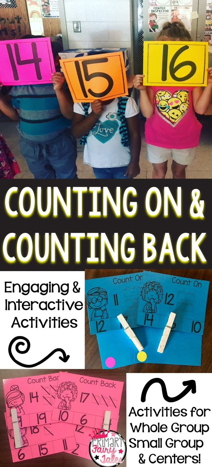 Grab everything you need to teach counting on and back in a fun and interactive way.   Interactive PowerPoint Games Center Cards & Activities