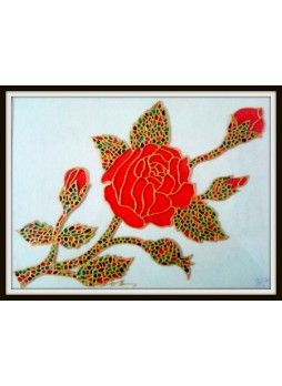 Glass flower painting