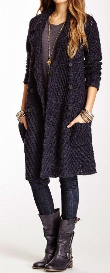 Maglione Cappotto con Jeans e scarpe lunghe ~ Fashion Frenzy