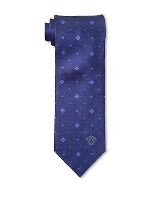 60% OFF Versace Men's Printed Tie, Blue/Navy