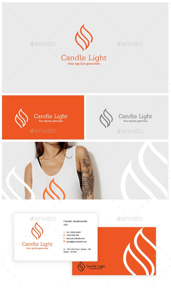 Candle Light Logo Template #design #logotype Download: http://graphicriver.net/item/candle-light-logo/12149951?ref=ksioks
