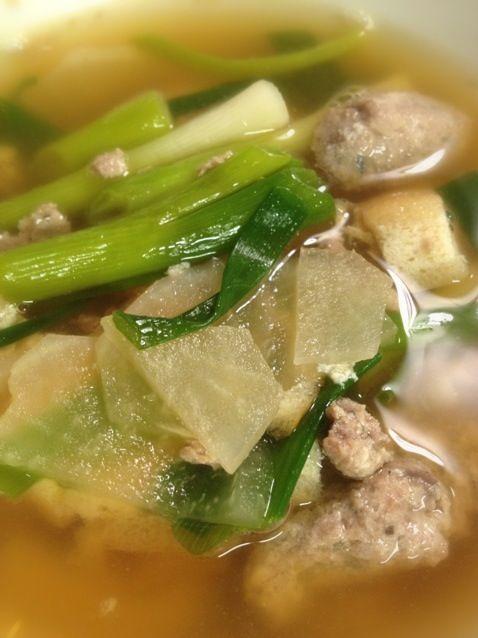 帰国直後の晩御飯。五臓六腑に沁み渡りました。 - 6件のもぐもぐ - つみれ汁、日本食バンザイ by ryoei