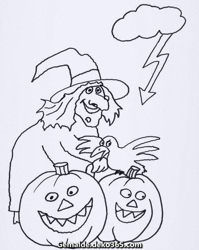 Elegante Kostenlose Mal Und Malvorlagen Halloween Zum Ausmalen Und Kolorieren Vintage Halloween Halloween Halloween Decorations