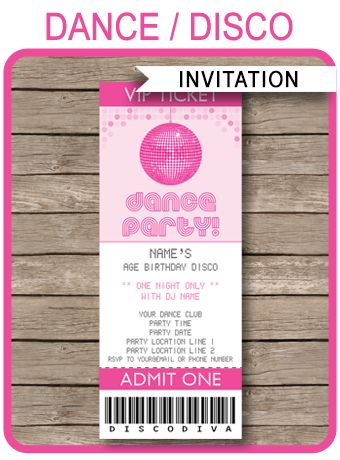 Best 25+ Ticket invitation ideas on Pinterest Hollywood - printable ticket invitations