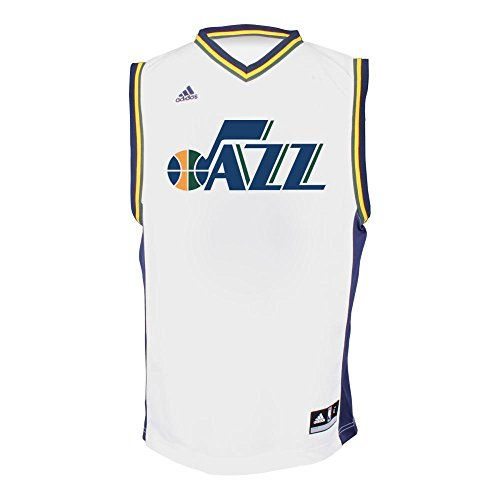 Utah Jazz Adidas NBA Dante Exum 11 Replica Jersey White 2XL * Read more reviews of the product by visiting the link on the image.