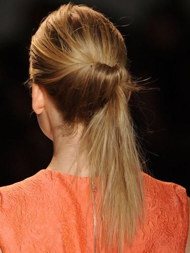 Pamela Rose low ponytail hair trend