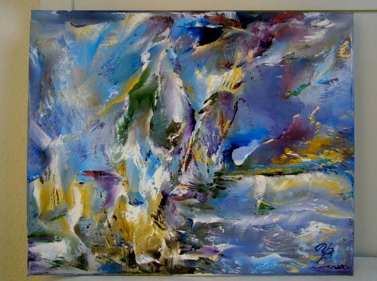 colour-flow. Oil on canvas 40x50.