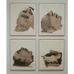 Set of 4 digital prints by Marlene Dumas.
