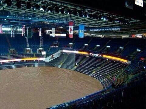 Inside the Saddledome (Calgary flood June 21, 2013).