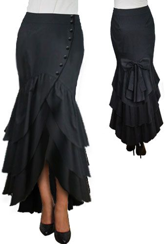 Victorian Low Bustled Flare Skirt by Amber Middaugh ---- --- Save 37% at ChicStar.com --Coupon: AMBER37