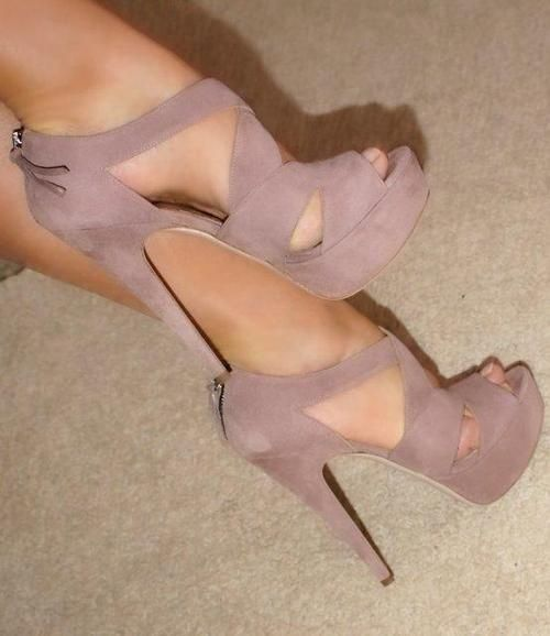 Blush Suede ~ 50 Ultra Trendy Designer Shoes - Style Estate -