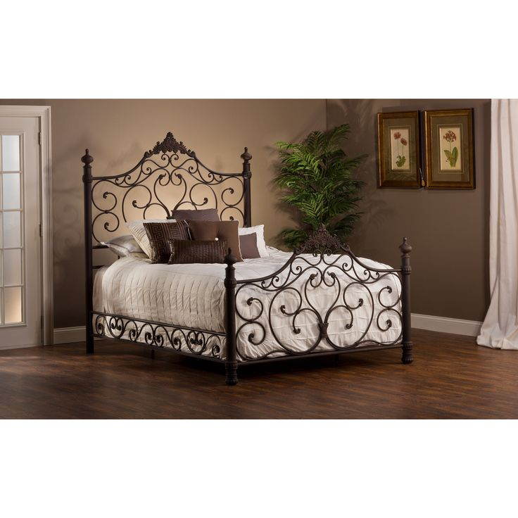 Baremore Antique Brown Bed Set | Overstock.com Shopping - Great Deals on Hillsdale Beds