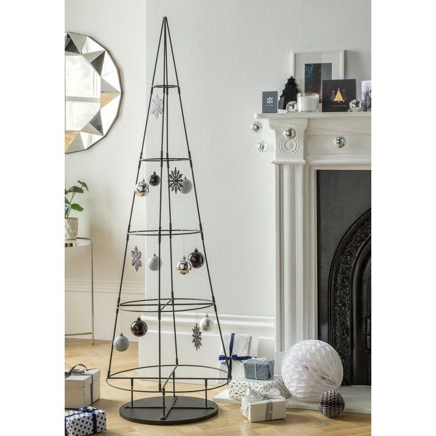 Buy Argos Home 5ft Metal Space Saving Christmas Tree At Argos Thousands Of Products For Same Day Delivery 3 Argos Home Space Saving Artificial Christmas Tree