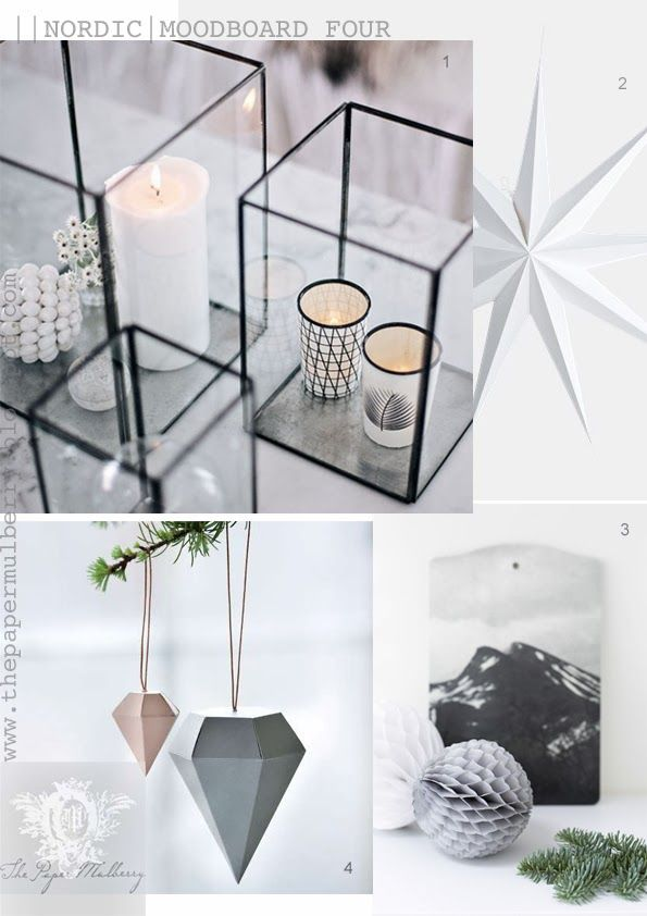 Soft Tones Glasbox Lanterns House Doctor 9 Point Star Geometric Ornaments And Honeycomb Christmas The Paper Mulberry Nordic