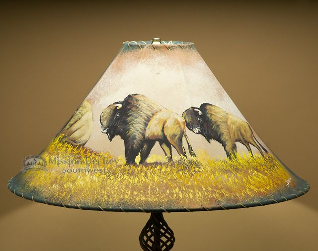 Mejores 38 imgenes de rustic painted lamp shades en pinterest painted leather lamp shade 22 buffalo pl44 aloadofball Image collections