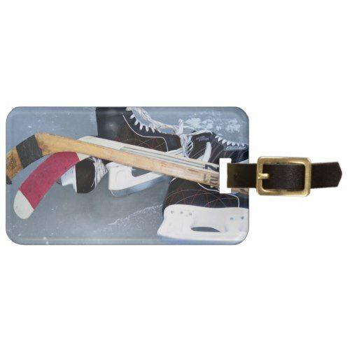Hockey (personalize) luggage tag