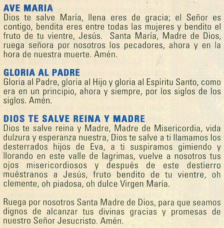 2. ORACIONES DEL SANTO ROSARIO